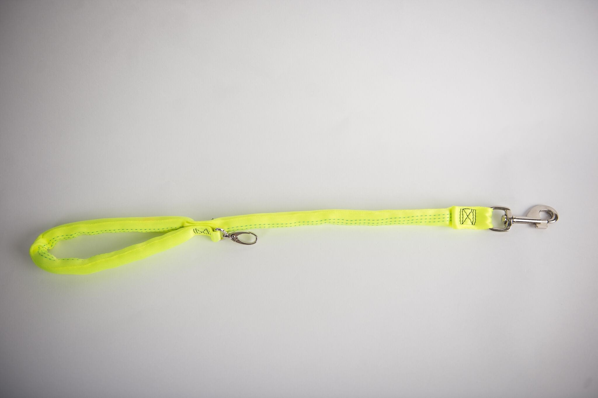Yellow-Luv My Leash, 2-6 Foot option ,Lightweight, Padded,Dual Snap, 5 Leashes in 1 ,Made in U.S.A.