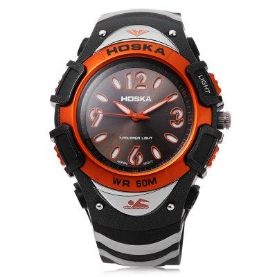 KID01-HOSKA H804B CHILDREN WRISTWATCH (ORANGE)
