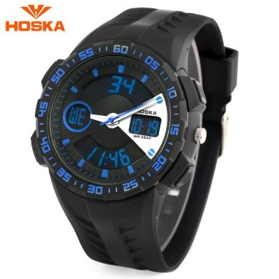 KID01-HOSKA HD029B CHILDREN WRISTWATCH (BLUE AND BLACK)