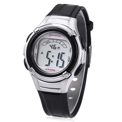 KID01-MINGRUI 8523 KIDS WATCH LED LIGHT (BLACK)