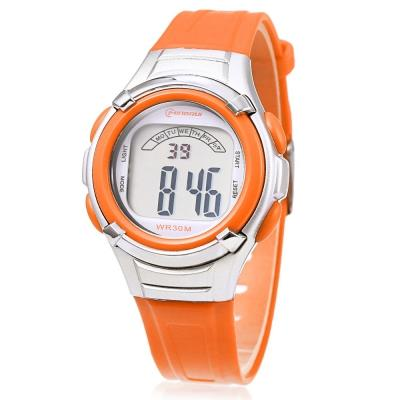 KID01-MINGRUI 8523 KIDS WATCH LED LIGHT (ORANGE)