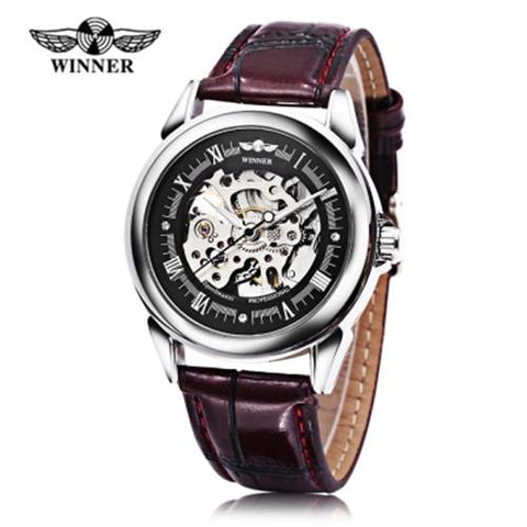 MEN04-WINNER01 MECHANICAL LUMINOUS BROWN