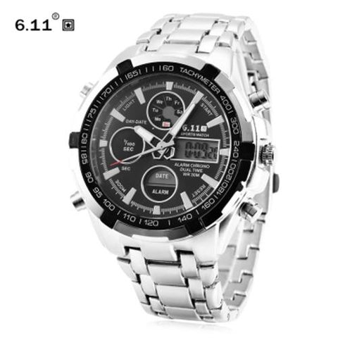 MEN04-6.11 8128 LED MALE SPORT WATCH BLACK