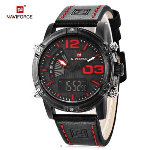 MEN04-NAVIFORCE05 CALENDAR LUMINOUS BLACK