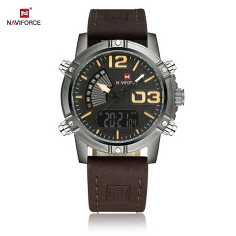 MEN04-NAVIFORCE04 CALENDAR LUMINOUS DEEP BROWN