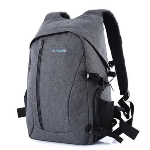MEN03-PROWELL DC21439 DSLR CAMERA FLAX PHOTOGRAPHY BAG BACKPACK (GRAY)