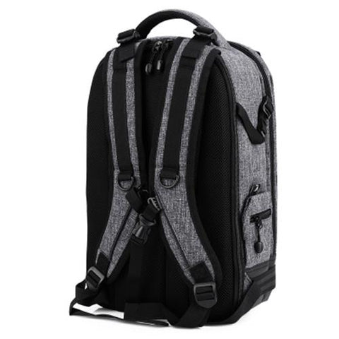 MEN03-PROWELL DSLR CAMERA CANVAS PHOTOGRAPHY BAG BACKPACK (DEEP GRAY)