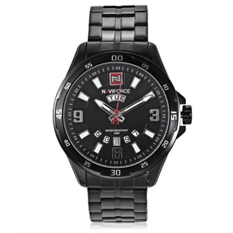 MEN04-NAVIFORCE06 QUARTZ BLACK