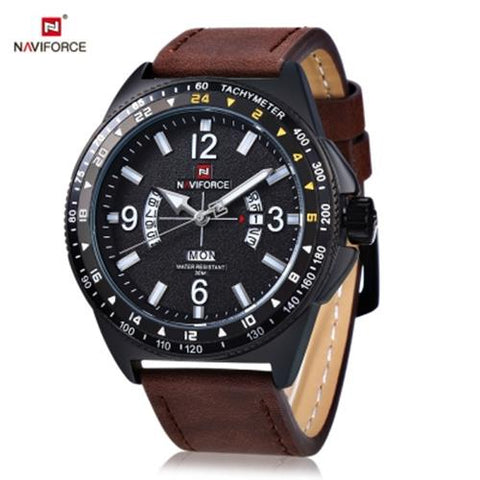 MEN04-NAVIFORCE01 QUARTZ DEEP BROWN