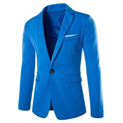 MEN00- ONE BUTTON BLAZER (LAKE BLUE) M
