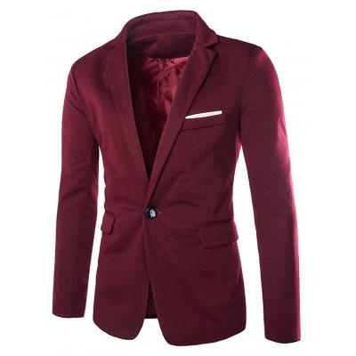 MEN00- ONE BUTTON BLAZER (WINE RED) M