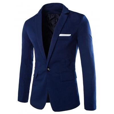 MEN00- ONE BUTTON BLAZER (CADETBLUE) M, L, XL