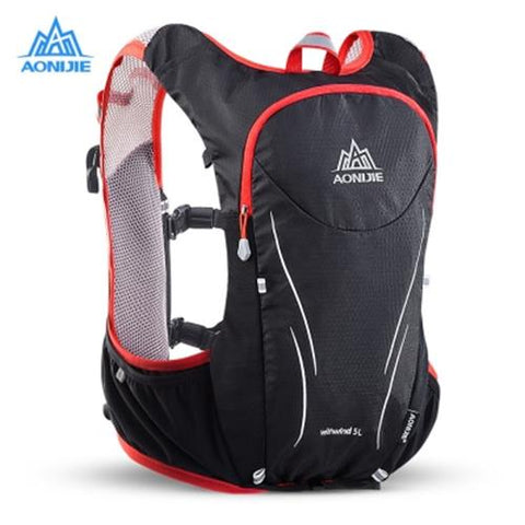 MEN03-AONIJIE E906S 5L UPGRADED HYDRATION BACKPACK (BLACK AND RED)