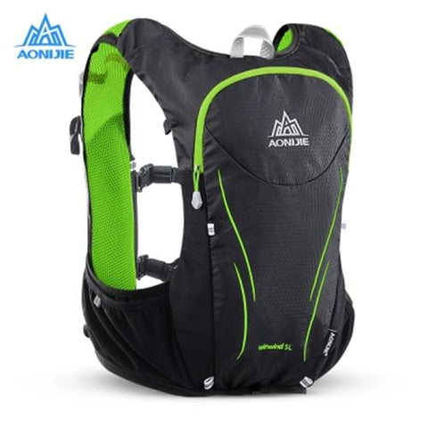 MEN03-AONIJIE E906S 5L UPGRADED HYDRATION BACKPACK (BLACK AND GREEN)