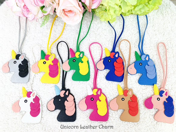 Unicorn Leather Bag Charm