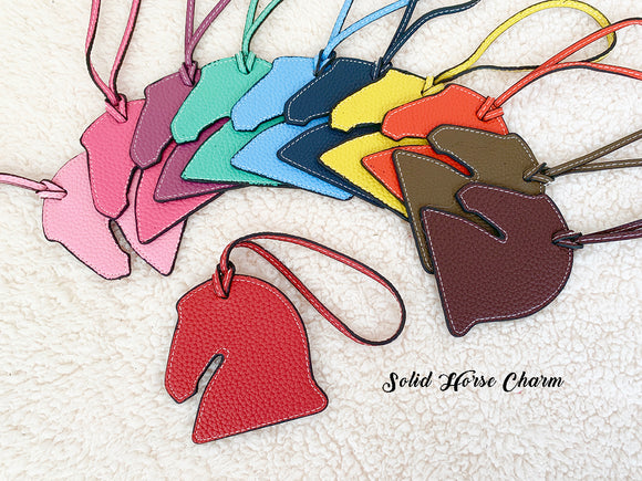 Leatherette Horse Charm (solid horse)