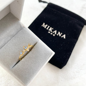 Jewelry 14K gold plated crown ring