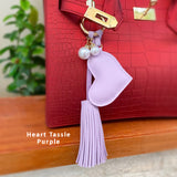 Heart Tassle Bag Charm
