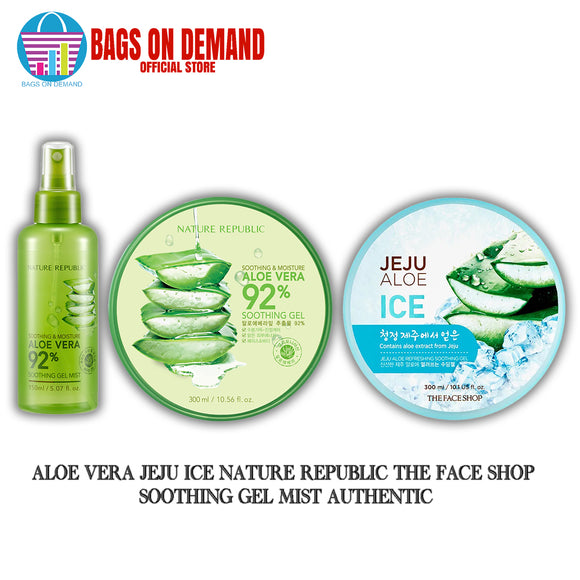 Aloe Vera Jeju Ice Nature Republic The Face Shop Soothing Gel Mist Authentic
