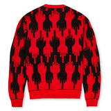 LAB FLIP CARDIGAN RED
