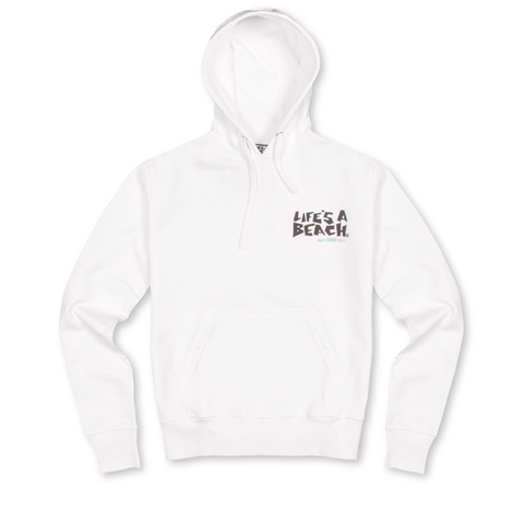 LAB WHITE LOGO HOOD