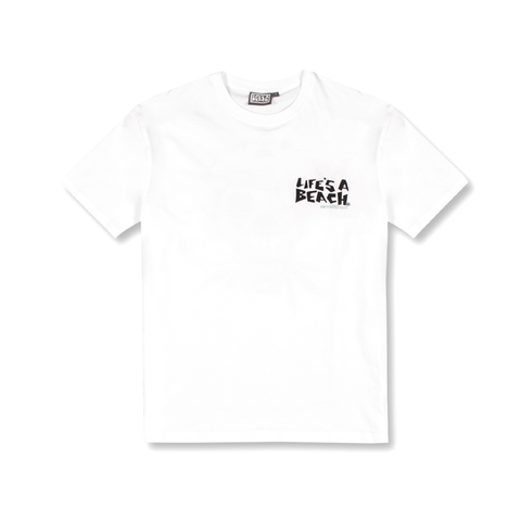 LAB WHITE LOGO TEE