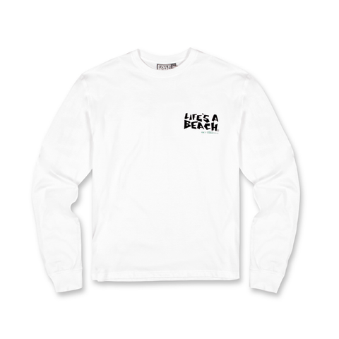 LAB WHITE STRIP LS TEE