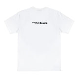 LAB WHITE STRIP BACKWARDS TEE