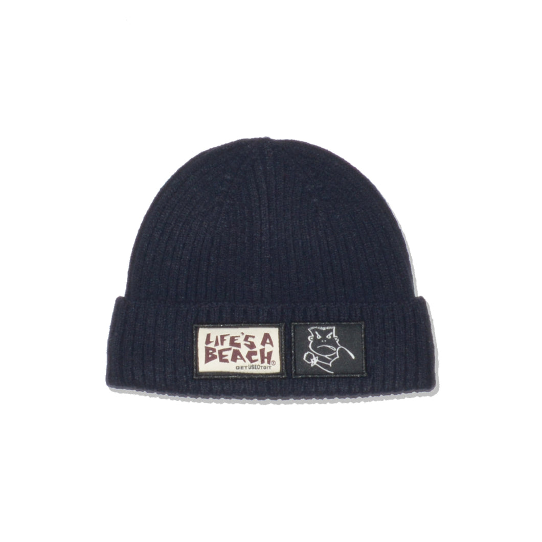 LAB BAD BOY CLUB CUFFED BEANIE NAVY
