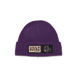 LAB BAD BOY CLUB CUFFED BEANIE PURPLE