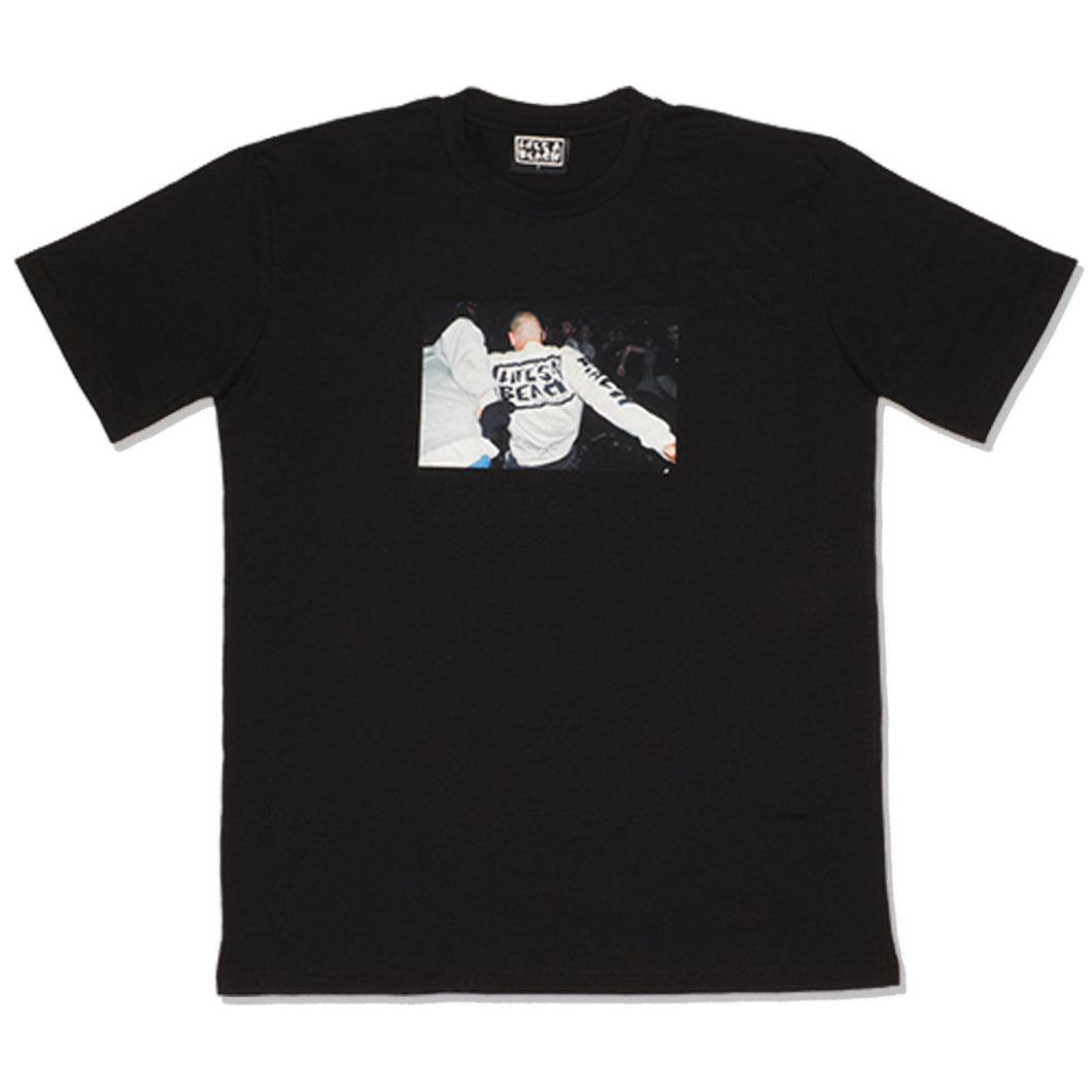 TEE ON A TEE T-SHIRT BLACK