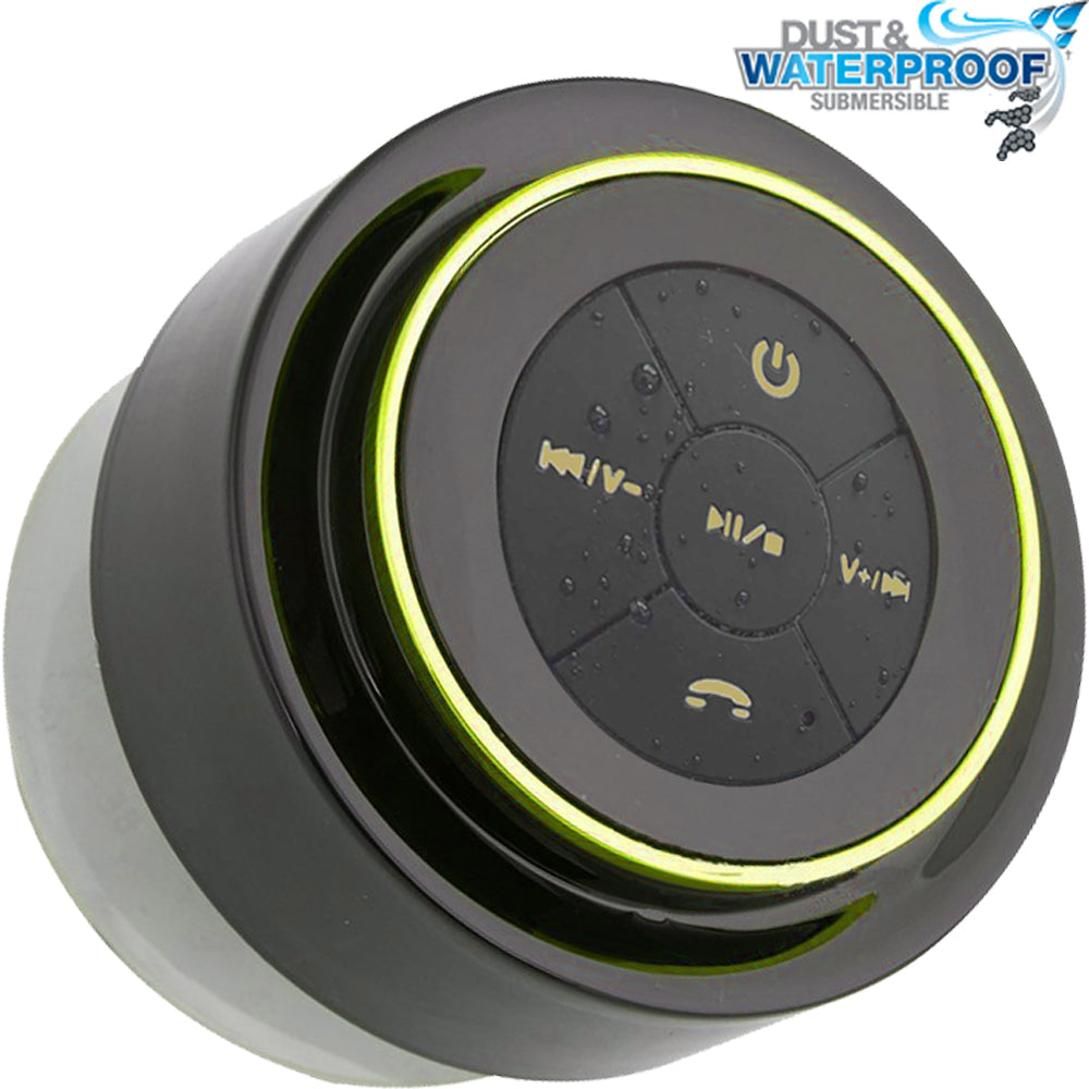 Bluetooth Shower Speaker & Portable Waterproof Music Player