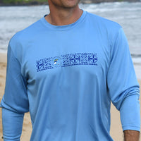 Men's Long sleeve blue tech shirt