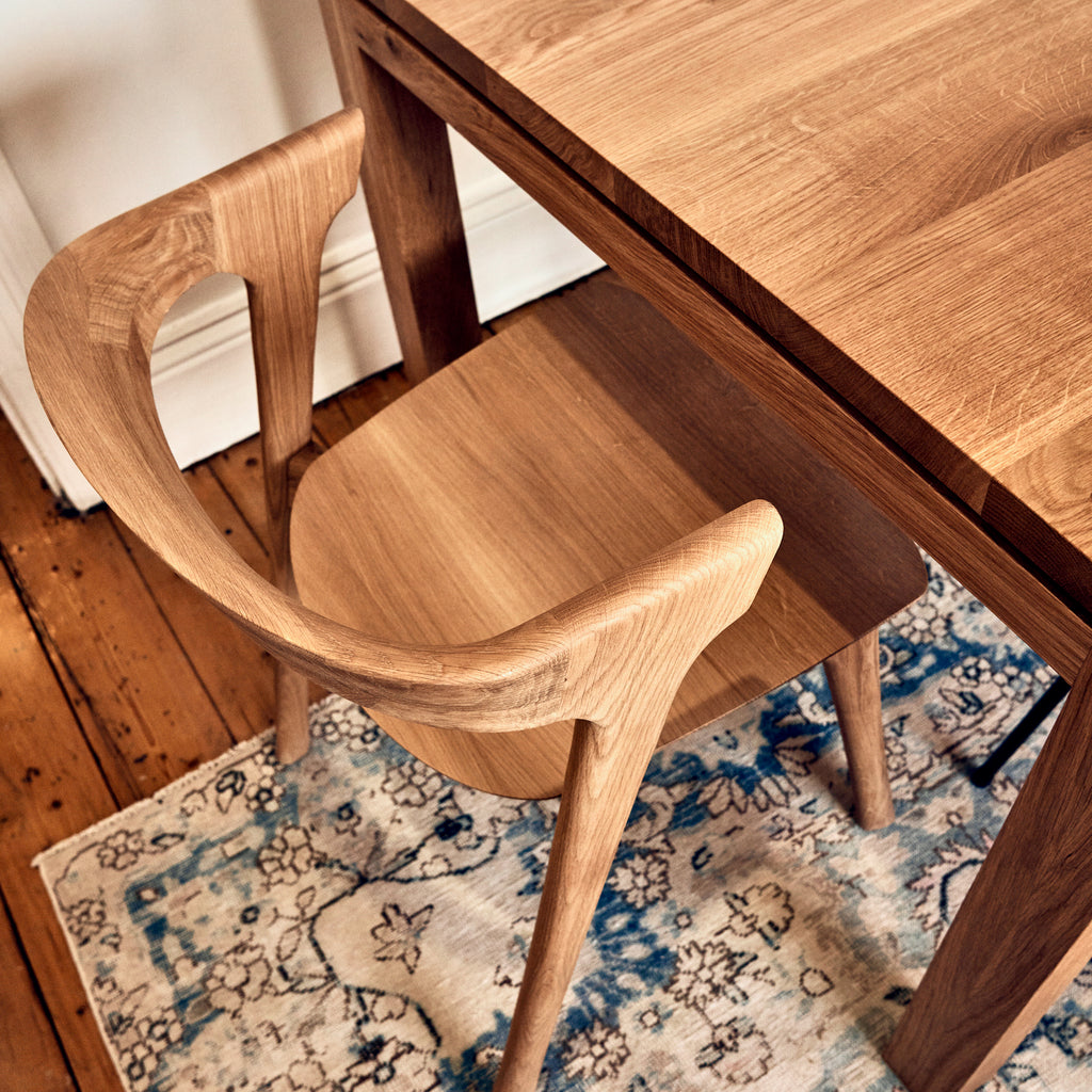 Chair and Australian Made Table in Oak.