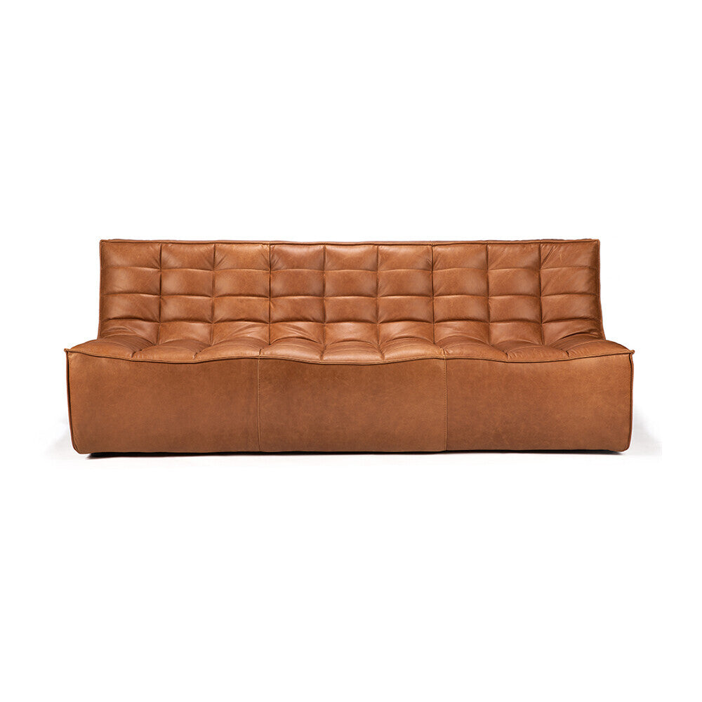 N701 sofa - 3 seater - old saddle by Jacques Deneef
