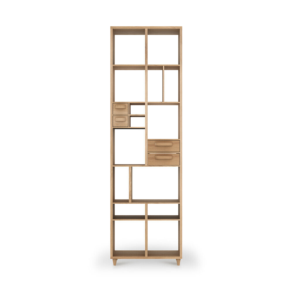 Oak Pirouette book rack by Ethnicraft