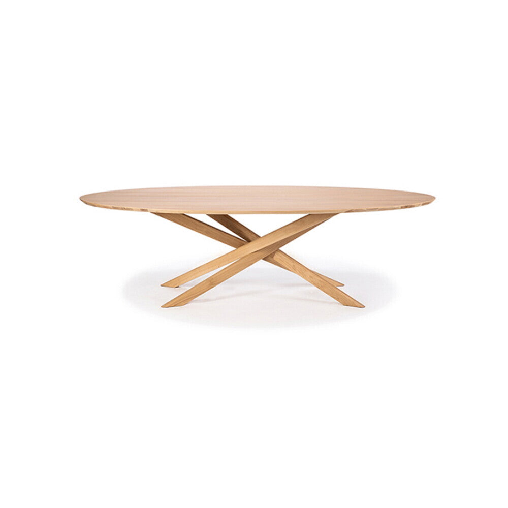 Oak Mikado oval coffee table by Alain van Havre