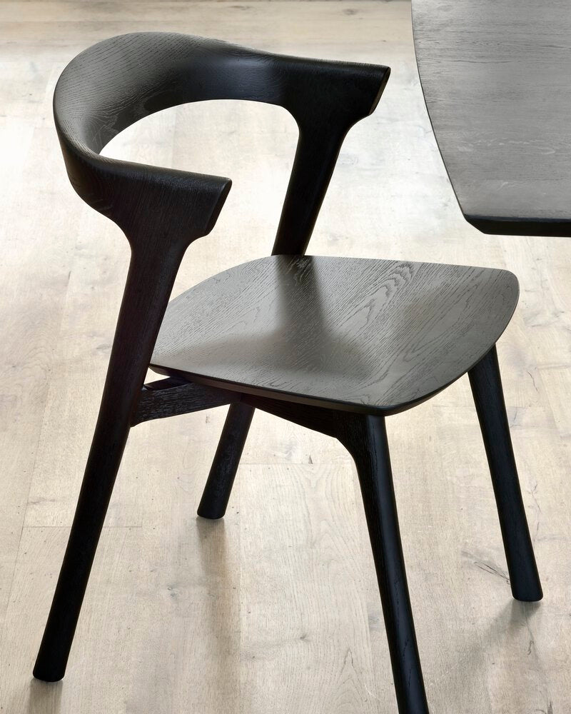Oak Bok black dining chair