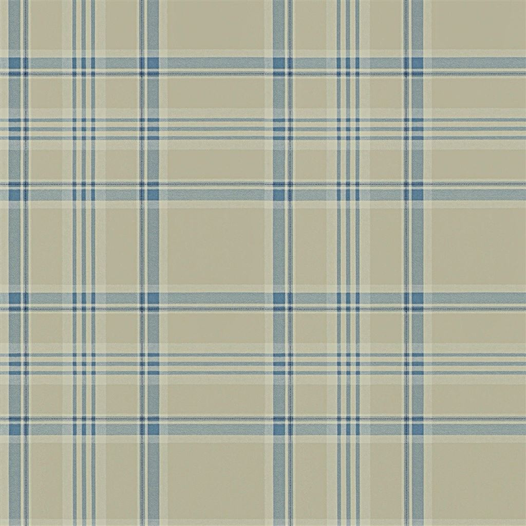 Deerpath Trail Plaid Slate Wallpaper