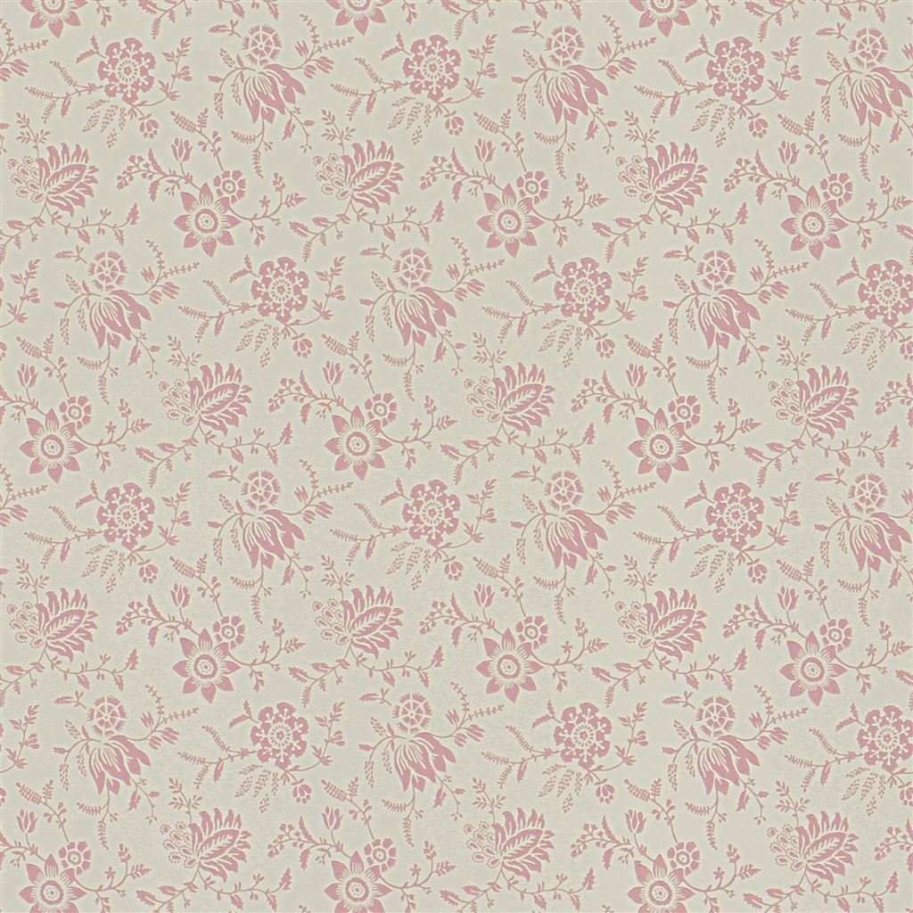 Scrimshaw Floral Shell Wallpaper