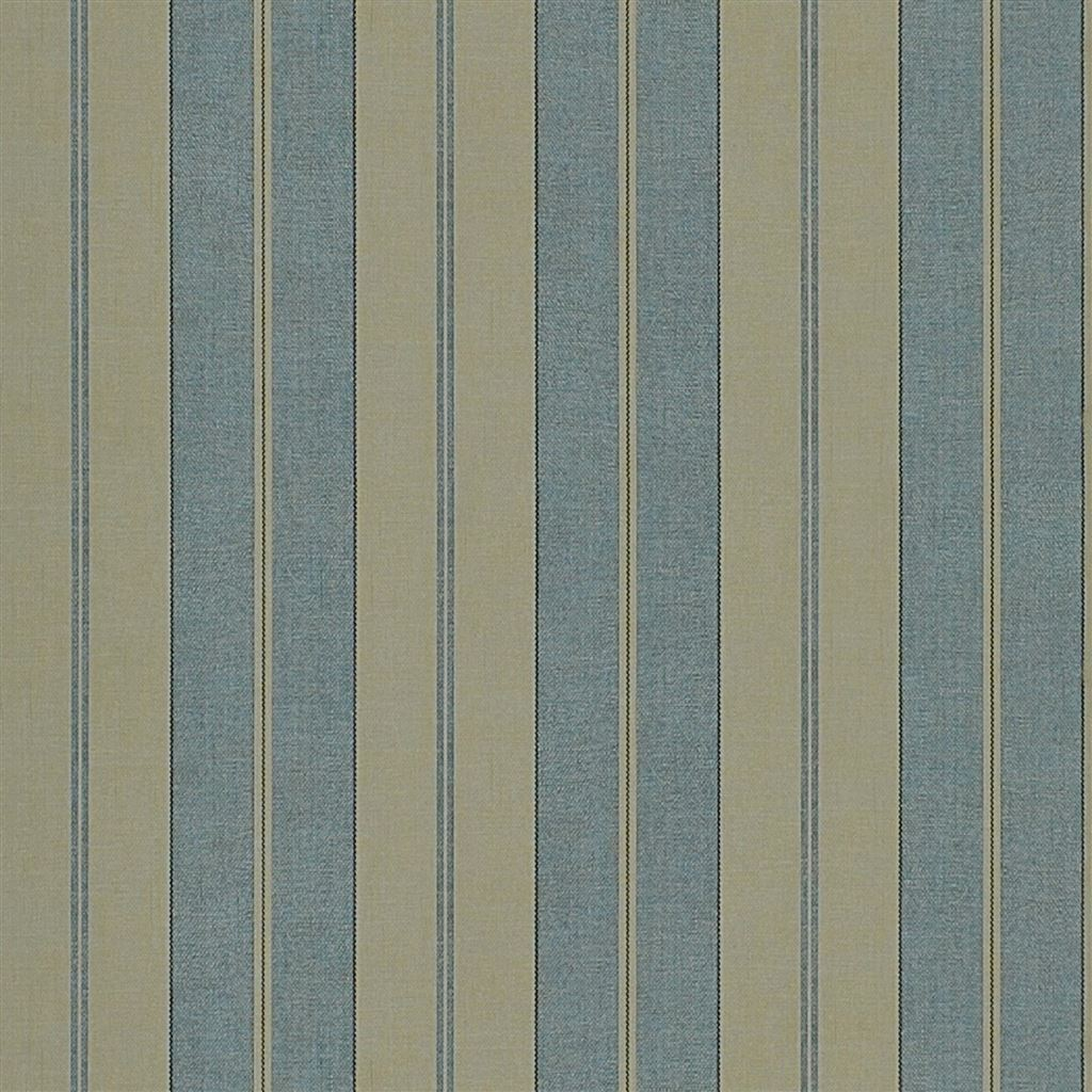 Seaworthy Stripe Vintage Blue Wallpaper