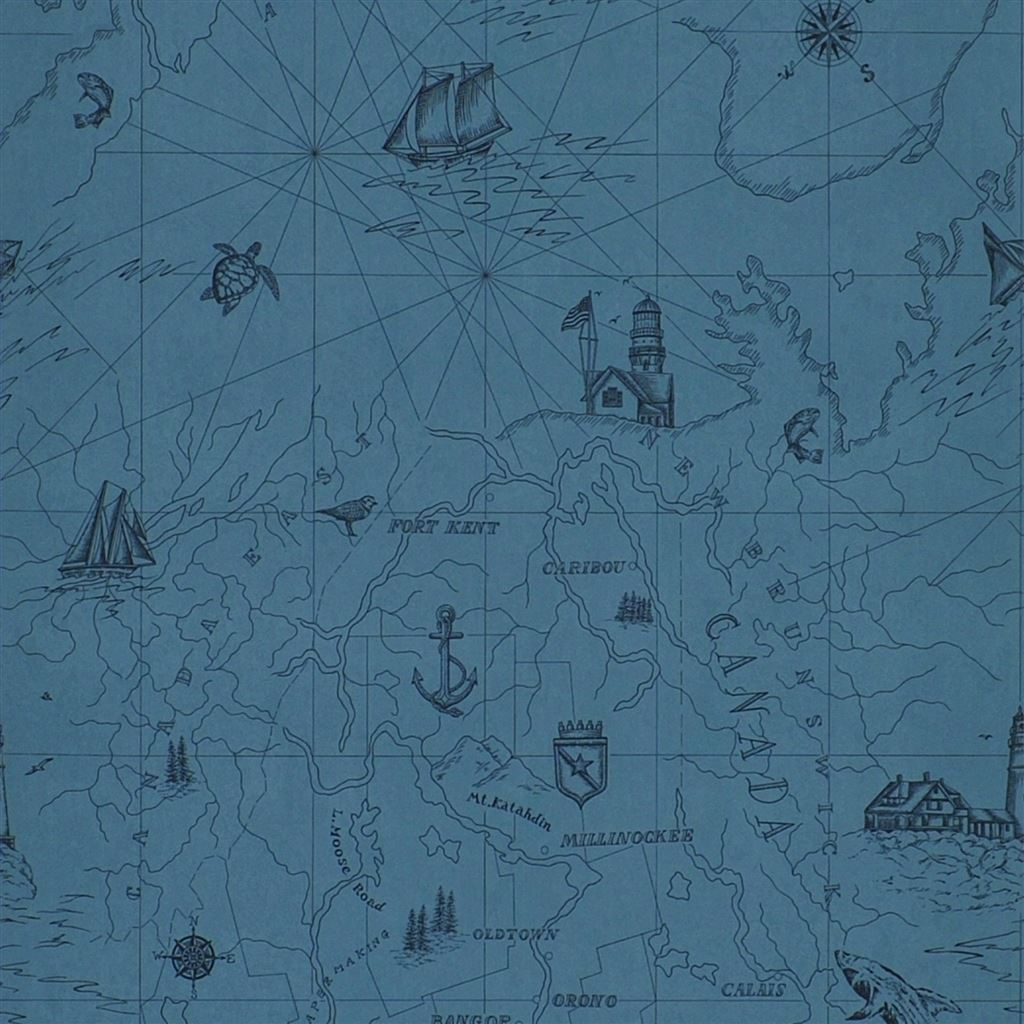 Searsport Map Atlantic Wallpaper