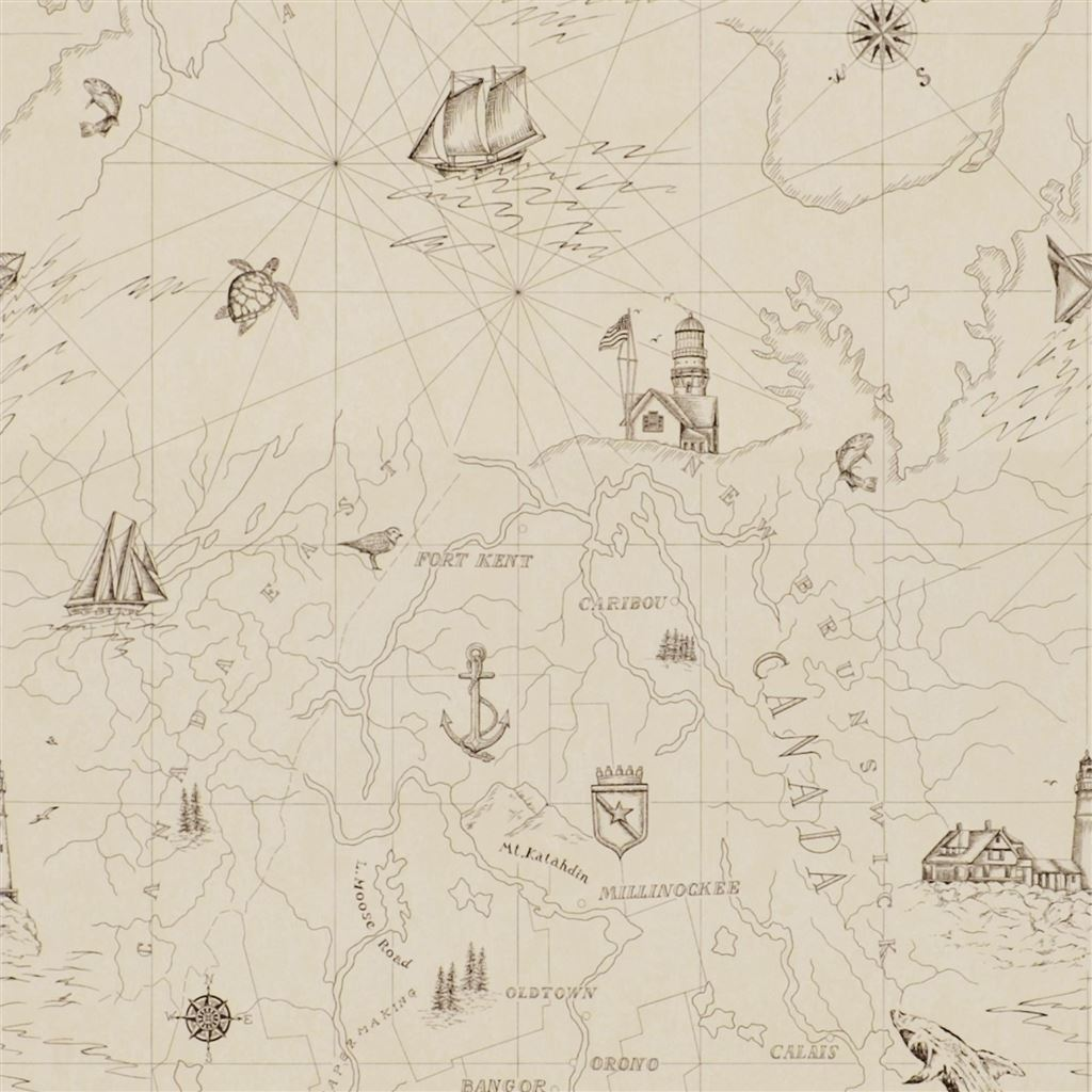 Searsport Map Bone Wallpaper