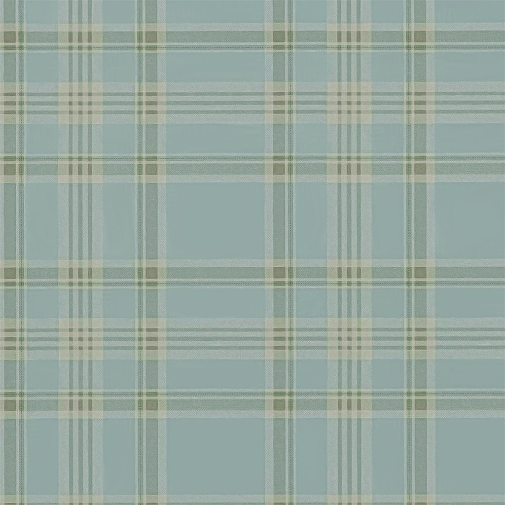 Deerpath Trail Plaid Mist Wallpaper