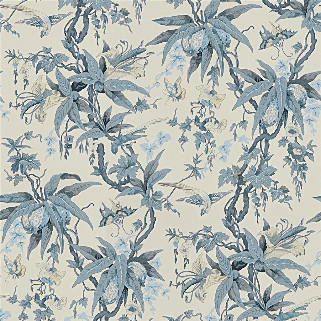 Mary Day Botanical Slate Wallpaper