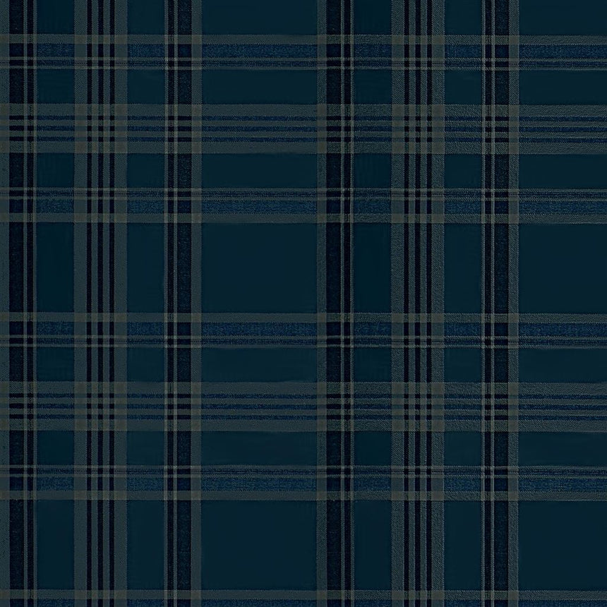 Deerpath Trail Plaid Indigo