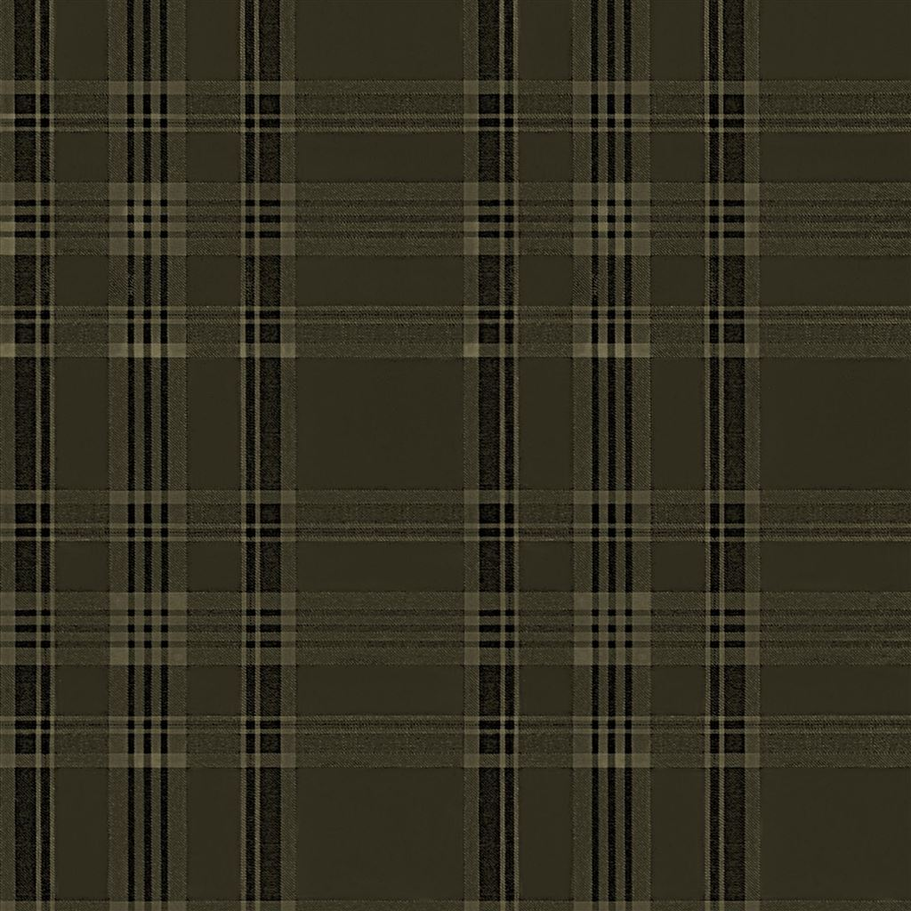 Deerpath Trail Plaid Sepia Wallpaper
