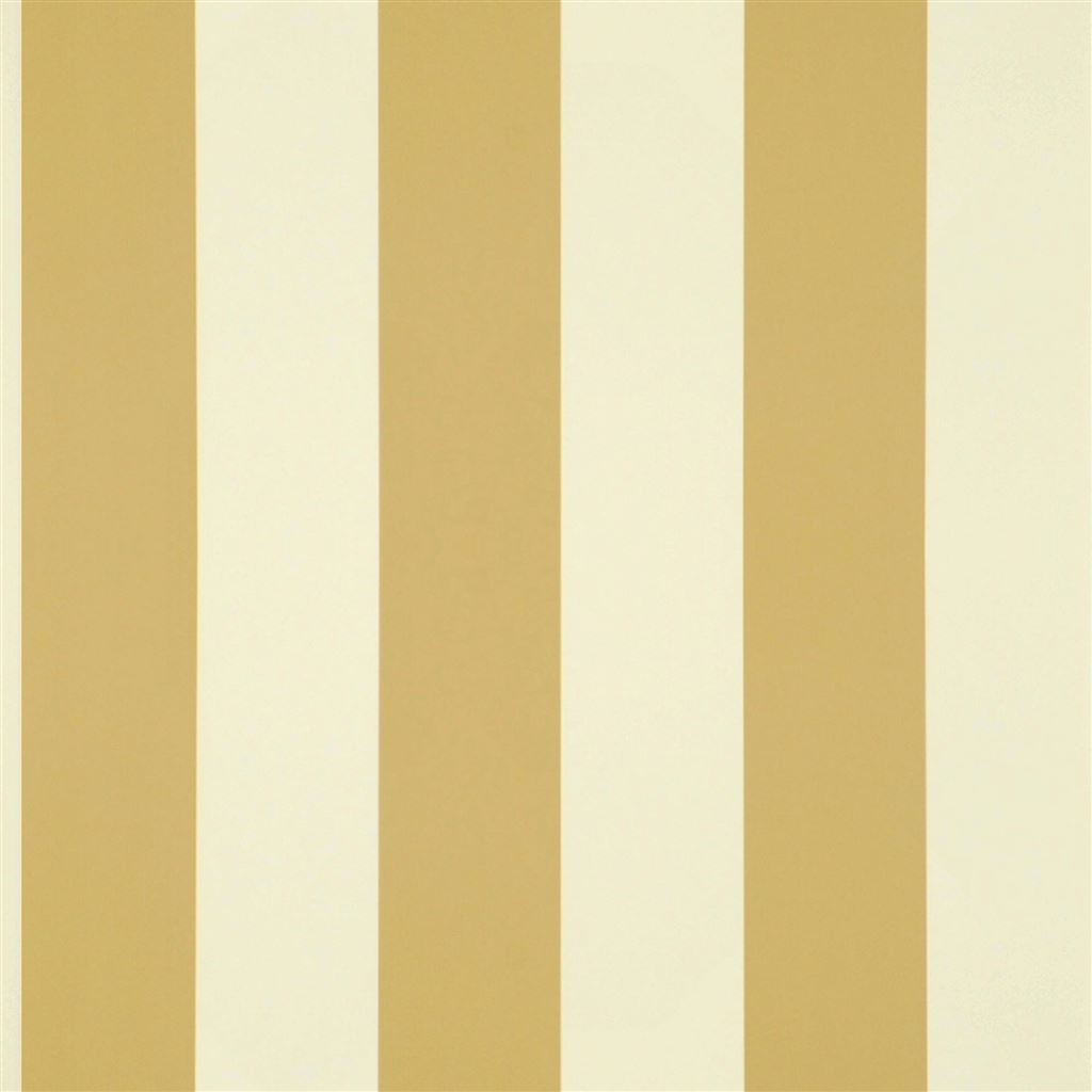 Spalding Stripe Ochre Wallpaper
