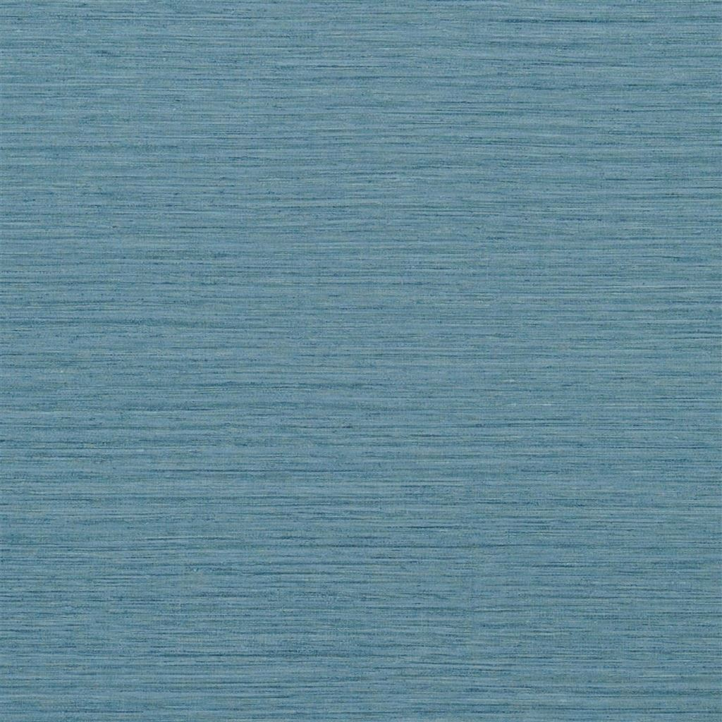 Brera Grasscloth Denim Wallpaper