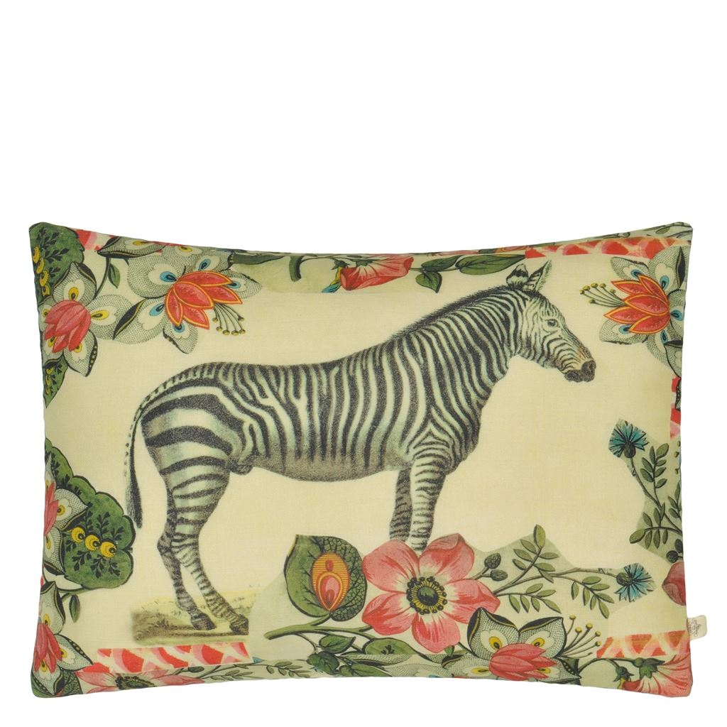 Zebras Sepia Cushion